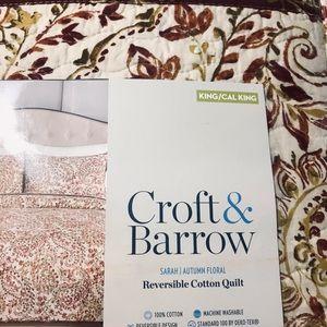 Croft & Barrow SARAH cotton quilt/ shams